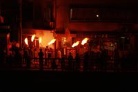 法螺貝の音とともに正福寺から火がおりて来ました